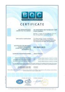 Chứng chỉ quản lý chất lượng ISO